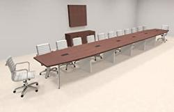 Modern Boat Shaped 26' Feet Conference Table OF-CON-CV67