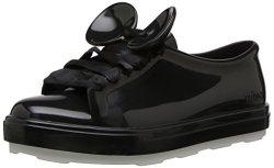 MINI MELISSA Girls' Mel Be+disney Sneaker Black 3 Medium Us Little Kid