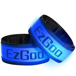 EzGoo LED Armband 2 Pack LED Slap Band Light For Running Sports Glow Bracelet - Blue