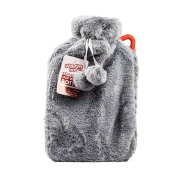 Hot Water Bottle With Cover 2LITRE - Blue Grey