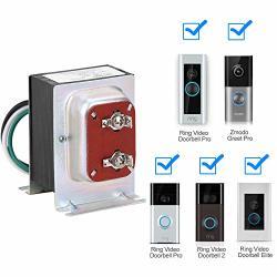 FCHO Doorbell Transformer 16V 30VA Hardwired Door Chime Transformer Fit For Ring Video Pro Zmodo Smart Greet Wifi Skybell Doorbell