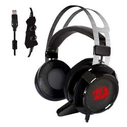Redragon H301 SIREN2 7.1 Channel Surround Stereo Gaming Headset Over Ear Headphones With MIC Individual Vibration Noise Canceling LED Light