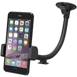 VAVA Phone Holder For Car Windshield With One Hand Operation Long Arm Car Phone Mount For Iphone 6 S 7 Plus 8 X And Android
