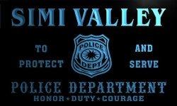 ADV PRO TK2253-B Simi Valley Police Dept Department Badge Policemen Bar Beer Neon Light Sign
