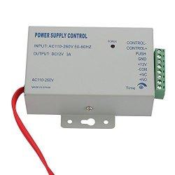 Intop K80 Ac 110-240V In To Dc 12V 3A Power Supply 36W For Door Access Control Worldwide Voltage