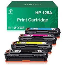 GREENSKY Compatible Toner Cartridge Replacement For Hp 125A CB540A CB541A CB542A CB543A Color Laserjet CM1312 Mfp CM1312NFI CP1215 CP1515N CP1518NI Black Cyan Yellow Magenta
