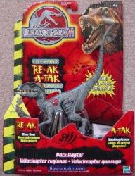 Hasbro Pack Raptor From Jurassic Park III Electronic Re-ak A-tak Action Figure