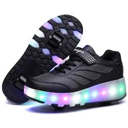 shoes with roller skates in them