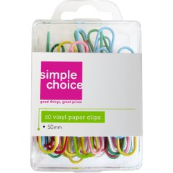 SIMPLE CHOICE - 50MM Vinyl Paper Clips