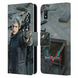 Official Devil May Cry 5 Nero Characters Leather Book Wallet Case Cover Compatible For Samsung Galaxy A10E 2019