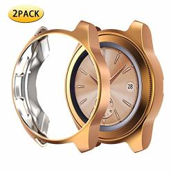 Samsung Watch Case 42MM Full Cover Galaxy Watch Case Fingerprint Resistant For Samsung Galaxy Watch 42MM Rose Gold 42MM