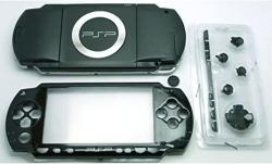 Gametown New Replacement Sony Psp 1000 Full Housing Shell Cover With Button Set -black.