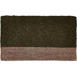 Tag Two-tone Coir Mat Decorative All-season Mat For The Front Porch Patio Or Entryway Green