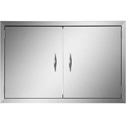 Mophorn Outdoor Kitchen Access 30.5X 21 Wall Construction Stainless Steel Flush Mount For Bbq Island 30.5INCH X 21INCH Double Door