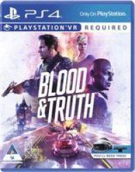SIEE Blood And Truth Psvr - Playstation VR And Playstation 4 Camera Required Playstation 4
