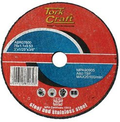 Tork Craft Abrasive Cutting Wheel For Steel 76 X 1.1 X 9.53
