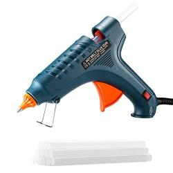 TopElek 100W Glue Gun Hot Melt Glue Gun With 12PCS Premium Glue Sticks For  Industrial Home Arts & Crafts Use Dark Green | R989 34 | Home and Garden |