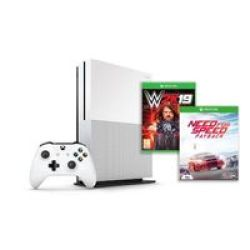 Microsoft Xbox One S Console 1TB - With Need For Speed Payback And Wwe 2K19
