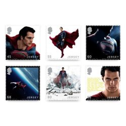 Man Of Steel Super-man Set Of 6 Collectible Postage Stamps