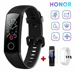 Honor Band 5 Fitness Tracker Heart Rate Monitor Amoled 0.95 Inch Smart Watch 5ATM Waterproof Bluetooth 4.2 Black