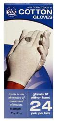 Cara Moisturizing Eczema Cotton Gloves Medium 24 Pair