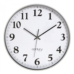 Century Boston Clock Silver 45 Cm