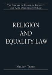 Religion And Equality Law Hardcover New Edition