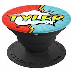 Tyler Gift Pop Comic Book Art Superhero Black Red Blue Men