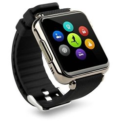 Bluetooth Smart Watch Black Case With Sim Slot Camera Works With Android Phones
