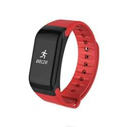Wc-kyt Smart Bracelet Fitness Bracelet Activity Tracker With Heart Rate Monitor Bluetooth Connection For Fitness Daily Travel Color : Red