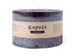 Sandalwood Frosted Pillar Candle 1.77L