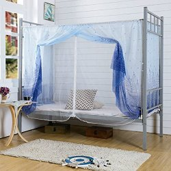 Tofover Dormitory Mosquito Net Bunk Bed Encryption Nets Bed Canopy Square Student Dorm Netting Blackout Curtains Anti-mosquito T & Tofover Dormitory Mosquito Net Bunk Bed Encryption Nets Bed Canopy ...