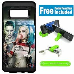 Limited Editions For Samsung Galaxy S8 Defender Rugged Hard Cover Case - Joker Harley Quinn Real Bubble