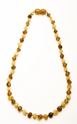 African Baby Carrier Baltic Amber Teething Necklace Cognac & Milky Mixed