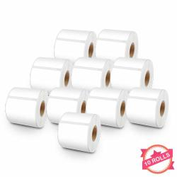 "Compatible With 30857 Lw Self-adhesive White Name Badge Labels For Labelwriter Label Printers 450 450 Turbo 4XL 2-1 4"" X 4"" 250 Labels Per Roll 10 Rolls"