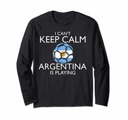 Argentina Football Jersey Argentinian Soccer Long Sleeve