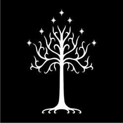 The Tree Of Gondor Hoodie in Grey