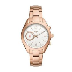 Fossil Q Women's Alyx Rose Gold-tone Stainless Steel Hybrid Smartwatc