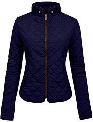 NE People Womens Lightweight Quilted Zip Jacket Xxxlarge WJ22NAVY