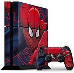 Skinit Spider-man PS4 Console And Controller Bundle Skin - Spider-man Crawls Marvel Skin