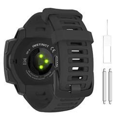 Moko Watch Band Compatible With Garmin Instinct Sports Gps Smart Watch Soft Silicone Adjustable Replacement Strap Fit Garmin Instinct instinct Tide i