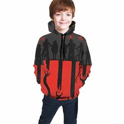 Tougouqus Stranger The Things Fashionable Teenagers Boys And Girls Teen Hooded Sweate M 10-12 Black