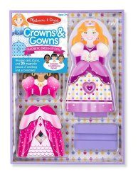 Melissa & Doug Magnetic Dress Up - Crowns And Gowns