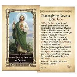 ShopCatholic Thanksgiving Novena To St. Jude Laminated Holy Card