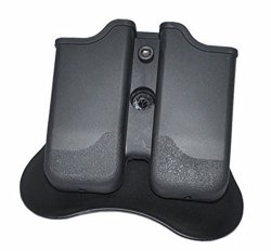 Tactical Scorpion Gear TSG-MPG3 Polymer Modular Double Magazine Pouch Glock 17 19 22 23 26 27 31 32 33 - Black