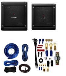 Kenwood Excelon X501-1 Class D Mono Power Amplifier With Kenwood Excelon  X301-4 4-CHANNEL Car Amplifier And 4 Gauge Amp Kit | R | Car Speakers |