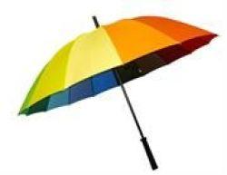 Casey Multicolor Large Handheld Umbrella Retail Box Out Of Box Failure Warranty