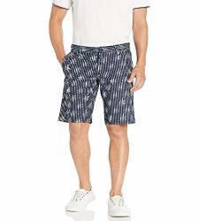 Boss Orange Men's Stretch Chino Slim Leg Shorts Dark Blue 38