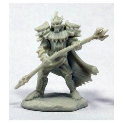 Reaper Miniatures Bones: Pathfinder : Vagorg Half Orc Sorcerer W3 Miniatures