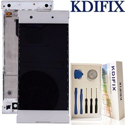 Kdifix For Sony Xperia XA1 G3121 G3123 G3112 G3116 Lcd Touch Screen Assembly + Frame With Full Professional Repair Tools Kit White+frame
